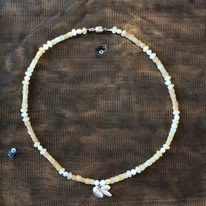 Jewelry - Bumble Bee Honey Calcite Pearl Choker Necklace